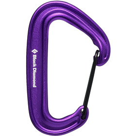 Black Diamond Miniwire Moschettone, purple